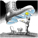 Mana Neyestani Boot Painting Cartoon