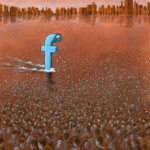 Political Cartoon by Pawel Kuczynski: Facebook Spy Submarine